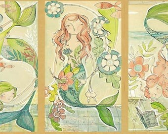 Blend Fabrics - Mermaid Days - A Mermaid Tale Panel