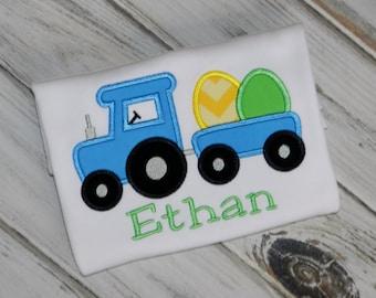 Egg Train Shirt / Personalized / Easter / Choo Choo