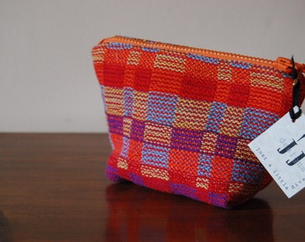Handwoven Zipper Pouch - Brights