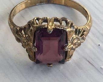 Amethyst Filigree Ring