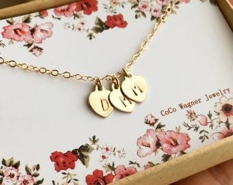 Heart Necklace / Tiny Heart Necklace, In Gold, Rose and Silver / Personalized Gift / Mothers Gift / Best Friends Gift / Wife Gift /