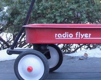 Vintage Radio Flyer Wagon // 90 Coaster Wagon // Old Wagon // Prop // Porch Decor