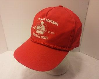 Vintage 1991 Trucker Ball Cap - Monday Night Football Raiders Vs Chiefs -  Souvenir, Football, Sports, Rockabilly, Retro, Mens Accessories