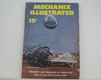 Mechanix Illustrated Magazine, March 1951 - Great Condition, Tips,  Science, Technology, Hundreds of Vintage Ads