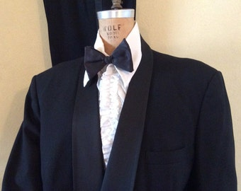 Vintage 43R shawl collar double breasted black tuxedo jacket and pants