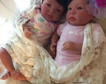 From the Biracial Hispanic Shyann Kit Twin Girls Maria and Elena Completed Dolls