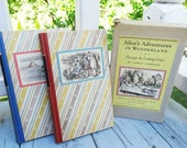 1946 Alice in Wonderland Boxed Set of Books by Random House, NY Hardcover fully Illustrated