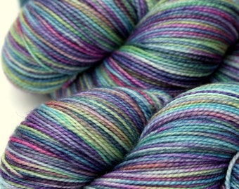 "Kettle Dyed Sock Yarn, Superwash Merino, Nylon and Stellina Fingering Weight, in ""Mother of Pearl"""