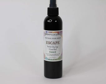 Escape Patchouli & Clary Sage Natural Hair Mist, Men's Hair Spray, Leave-in Conditioner
