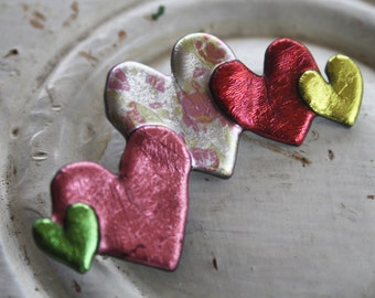 Valentine's Day Brooch in Friendly Plastic