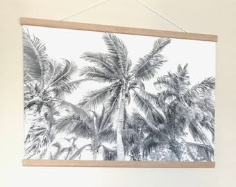 Palms for Dayz -  black and white Canvas Print 841 x 560mm.