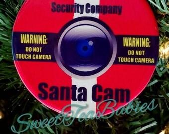 Santa cam ornament, Christmas ornament, North pole camera ornament, kids ornament