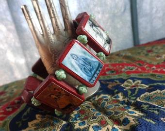 Kwan Yin Wooden Bracelet. Devotional Bracelet. Quan Yin Guanyin Guan Yin. Large. Charity.