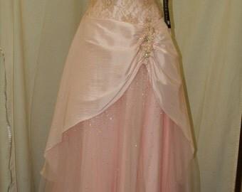 Prom Vintage Dress Pink, strapless dress beaded bodice A line skirt, prom, XV dress, Pink Wedding Dress, Sweet 16, Princess, Pageant Wear