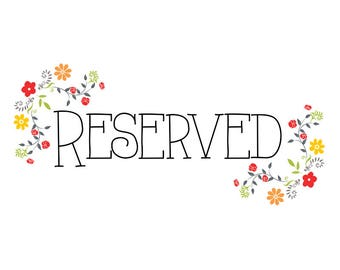 RESERVED Listing for Michele