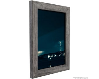 craig frames 17x17 inch gray barnwood picture frame bauhaus 125 wide fm26gry1717