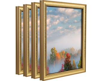 craig frames 11x14 inch aged gold picture frame stratton 75 wide - Etsy Picture Frames