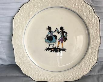 """Vintage 10-1/2"""" plate, Seville Co."""
