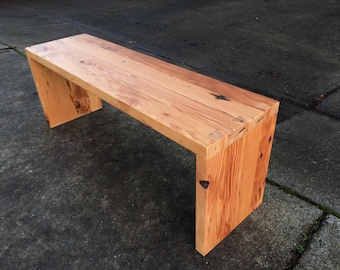 Reclaimed Douglas Fir Dovetail Bench