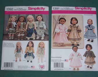 Simplicity 8360 American Girl 18 Doll Clothes Pattern Uncut From