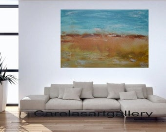 "Wonderful Original Abstract Painting -Handmade by Carola, 36""x24"""