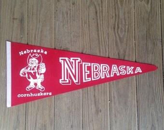 Vintage Nebraska Pennant