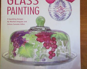 "Leisure Arts 22587 booklet ""Clearly Beautiful Glass Painting"" used 38 page booklet 2006"