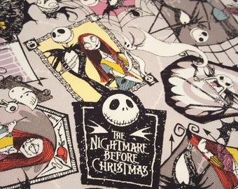 Disney Nightmare before Christmas licensed fabric, printed in Japan, canvas fabric, fat quarter
