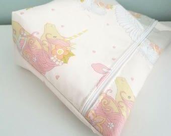 Unicorn Kawaii Style Makeup Bag - Elephant Modern Makeup Bag - Bridesmaid Gift  -  Cosmetic Bag - Waterproof Bag - Kawaii Fabric