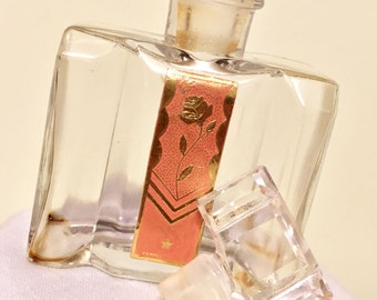 Vintage Perfume Bottle with foiled label