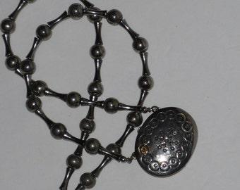 Estee Lauder Moonsilver Perfume Pendant Necklace Locket  Vintage