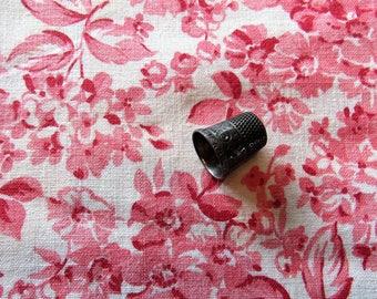 vintage FULL feed sack -- floral print fabric
