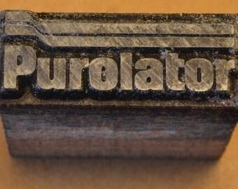 Purolator Printing Block