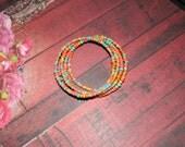 Native American Made Infinity Beaded Bracelet