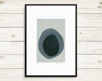 One of a kind art, unique art prints, grey bathroom decor, grey bedroom decor, zen art, meditation art, grey wall art, small art prints
