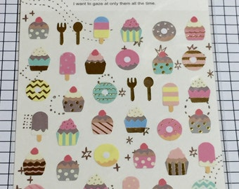 Japan cute sticker, tiny CAKE stickers, Scrapbooking material, Happy stickers - 1 sheet - 78147