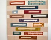 Modern Twin Quilt, Neutral Bedding, Stripe Quilt, Stripes, Geometric Quilt
