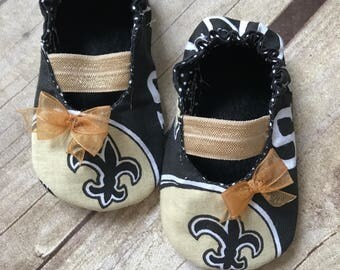 New Orleans Saints Baby Maryjane Booties