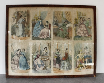 French Lithograph of Illustrations by Gaustave Donjean (1800-1899)