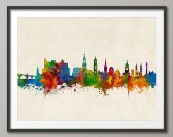 Heidelberg Skyline, Heidelberg Germany Cityscape Art Print (2835)