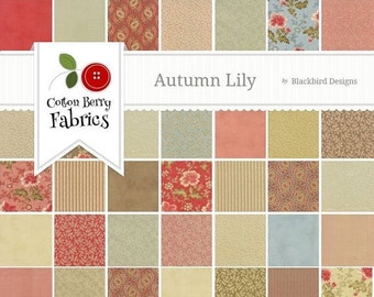 SALE Autumn Lily Jelly Roll by Blackbird Designs for Moda - One Jelly Roll - 2740JR
