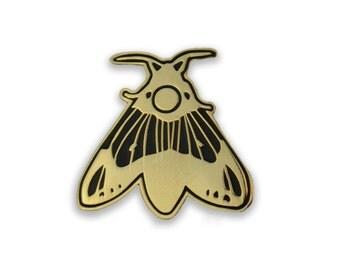 The Gold Hawk Moth Hard Enamel Pin
