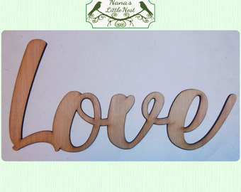 Word Art - Your Choice of Word  -  (Large ) Wood Cut Out -  Laser Cut