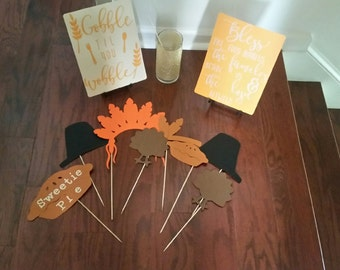 Thanksgiving photo booth props - 10 props