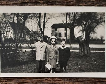 Original Vintage Photograph The Peculiar Children