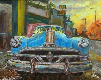 Pontiac Chieftan - high quality print of my original oil painting