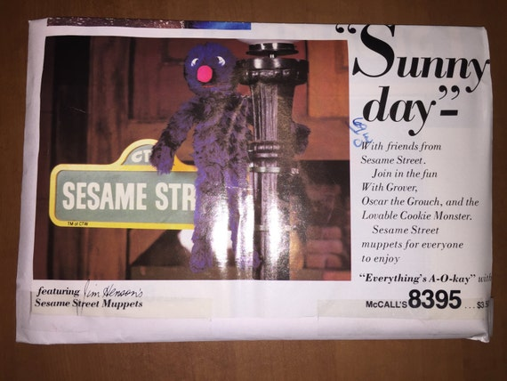 McCall's Sewing Pattern 8395 and 8396 Sesame Street Muppets Stuffed Dolls