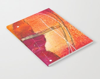 Journal, Orange and red artwork printed journal, lined pages