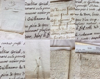 Collection of old documents. French 1426