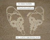 Baby Barefoot Sandals Baby Lace Up Baby Shoes Foot Jewelry Sized Newborn Girl Beach Wedding Anklet Cute Swadler Ankle Barefoot Sandles